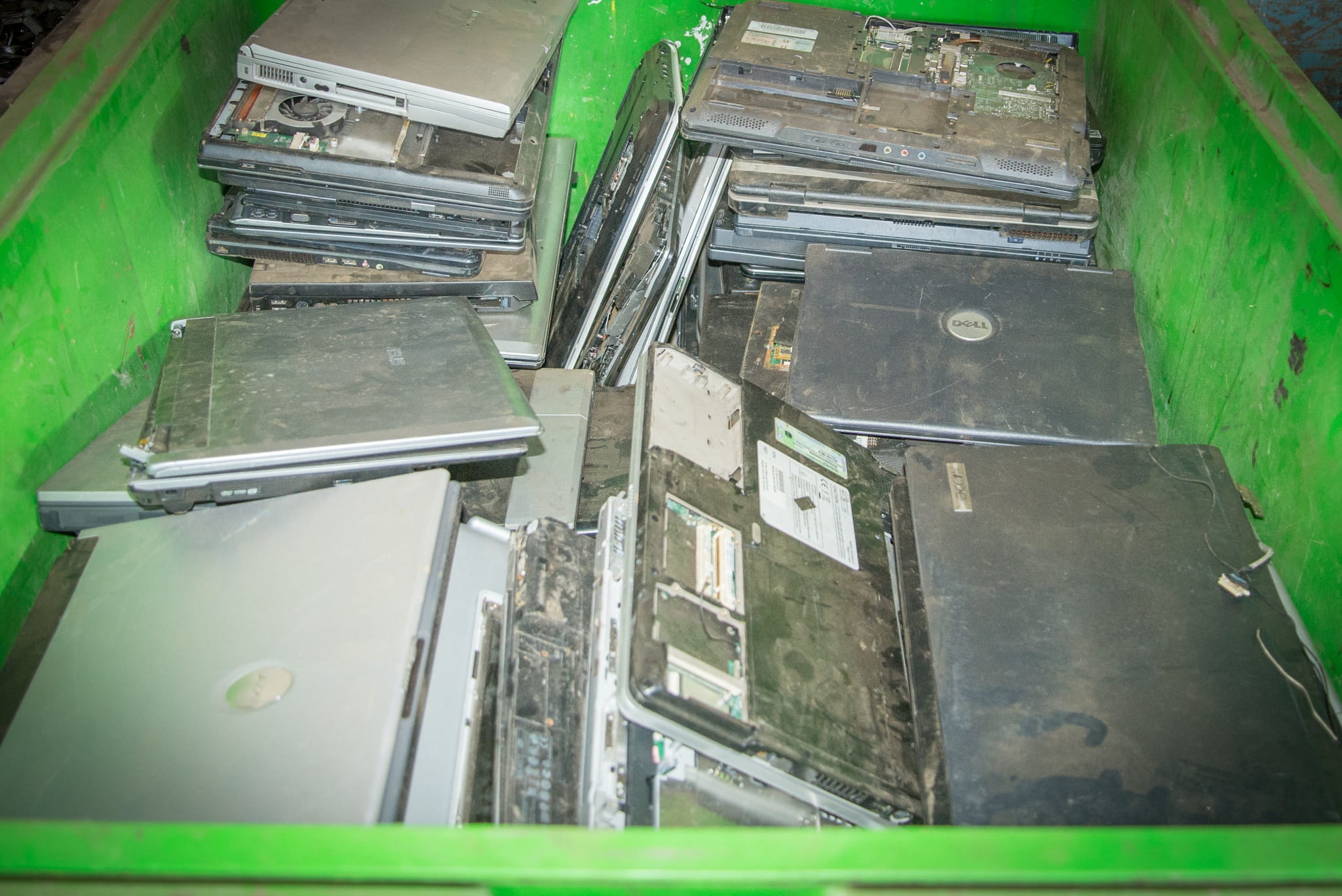 E-waste laptops